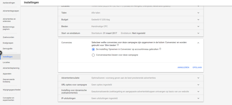 Markant Internet - Conversiedoelen in Google Ads