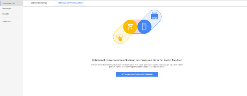 Markant Internet - Conversiereeks in Google Ads